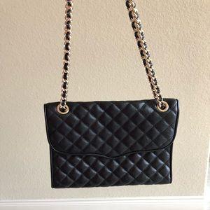 Quilted Affair Black Leather Shoulder Bag
